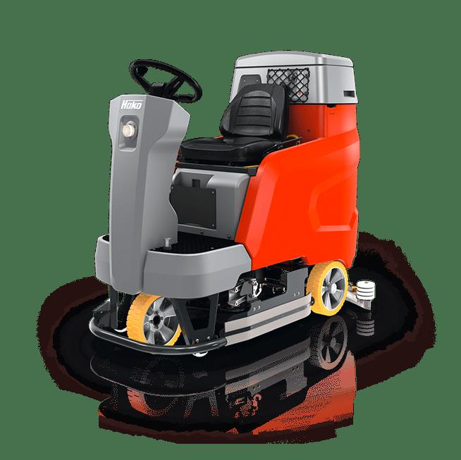 fregadora-industrial conductor sentado